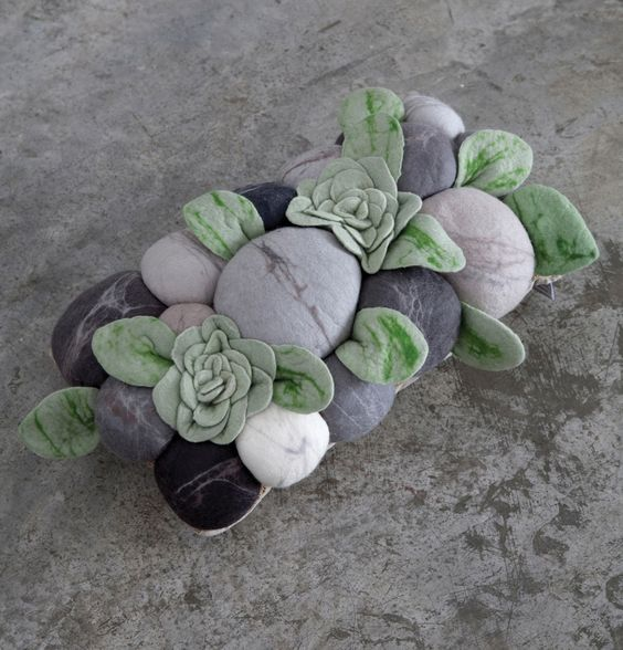 African Succulent Cushion | RONEL JORDAAN : WOOL / PASSION / DESIGN / UPLIFTMENT