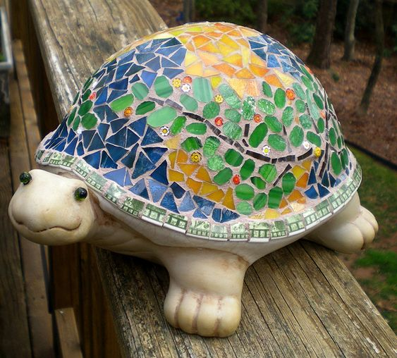 Awww - another Garden Turtle Mosaic  by artsyphartsy (Kathleen), via Flickr