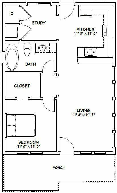 Pin By Jae On Apartment Layouts One Bedroom In 2021 Tiny House Floor Plans Guest House Plans One Bedroom House