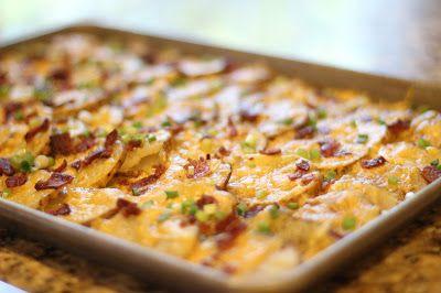 Streuen Sie ein wenig Sonnenschein !: käsig Speck Kartoffelstiche Party!