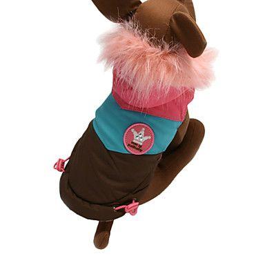 EUR € 15.63 - Precioso tricolor Traje Esquí caliente con capucha para Mascotas Perros (varios colores, tamaños), ¡Envío Gratis para Todos los Gadgets!