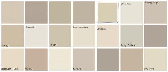 Benjamin Moore Paint Color Schemes | Neutral paint colors: Greige: Designers' favorites - a photo on ...