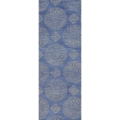 Beachcrest Home Villanova Hand-Tufted Denim Area Rug Rug Size: