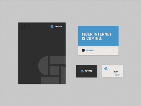 Skyber Print Collateral