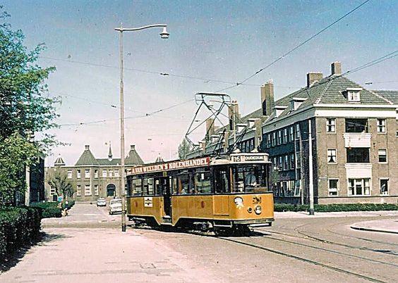 RET Spangen Tram Lijn 16 Oudendijk 1963