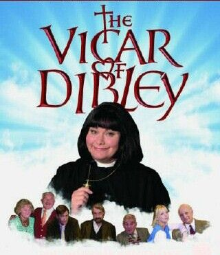 The Vicar of Dibley. Such a cute show! Watch it on Netflix, it is so funny and wonderful! Usually I don't really like British comedies but this one is adorable.