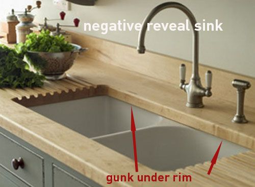 Choices Of Sinks Negative Reveal Kitchen Remodel