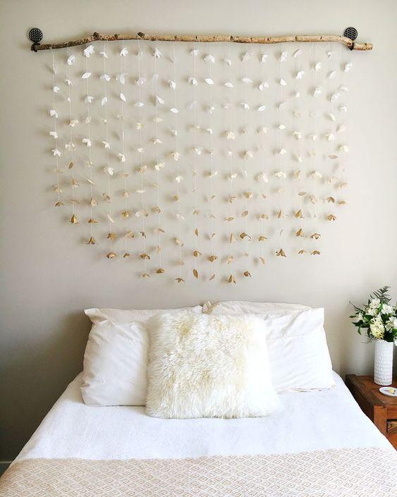 Creative Room decor. DIY headboard...