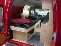 Ford Transit Connect Camper Bedding