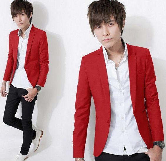 Men's clothing 2014 spring male slim blazer suit boys teenage ...