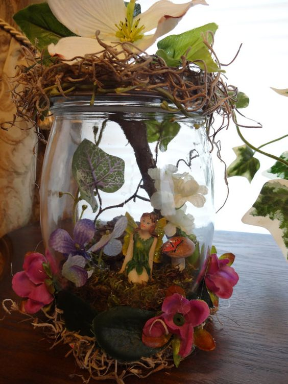 Captured Fairy in a jar