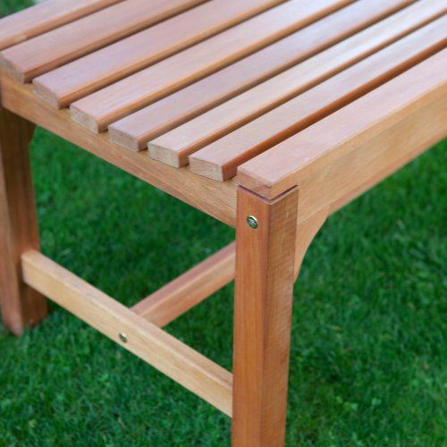 Rorick 5-ft. Wood Backless Bench - Outdoor Benches at Hayneedle