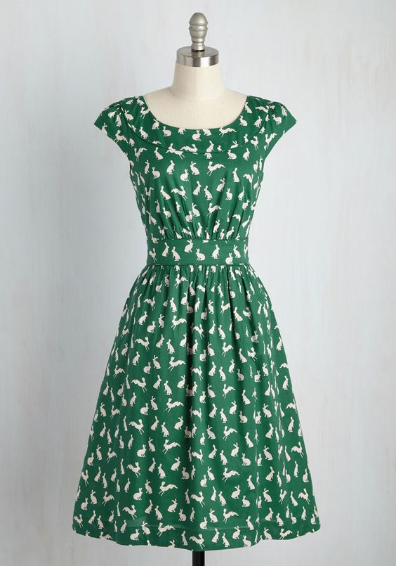 Day After Day Dress in Rabbits, @ModCloth