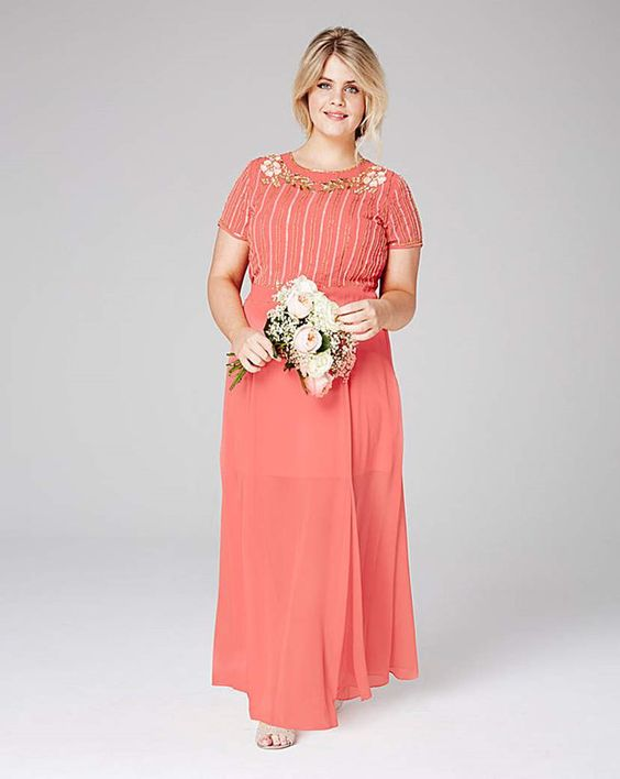 Vibrant Apricot - Bridesmaid Dresses for Larger Ladies: Tips and Top Picks - EverAfterGuide