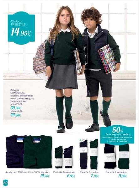 uniformes escolares el corte inglés