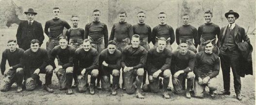 1919-20 UO football team.  From the 1931 Oregana (University of Oregon yearbook).  www.CampusAttic.com