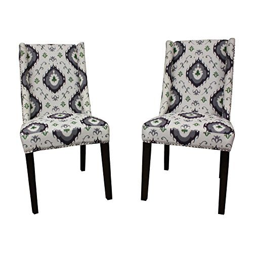 Hd Couture Mock Wingback Natural Palace I Kat Dining Chair Set Of 2 Dining Chairs Dining Chair Set