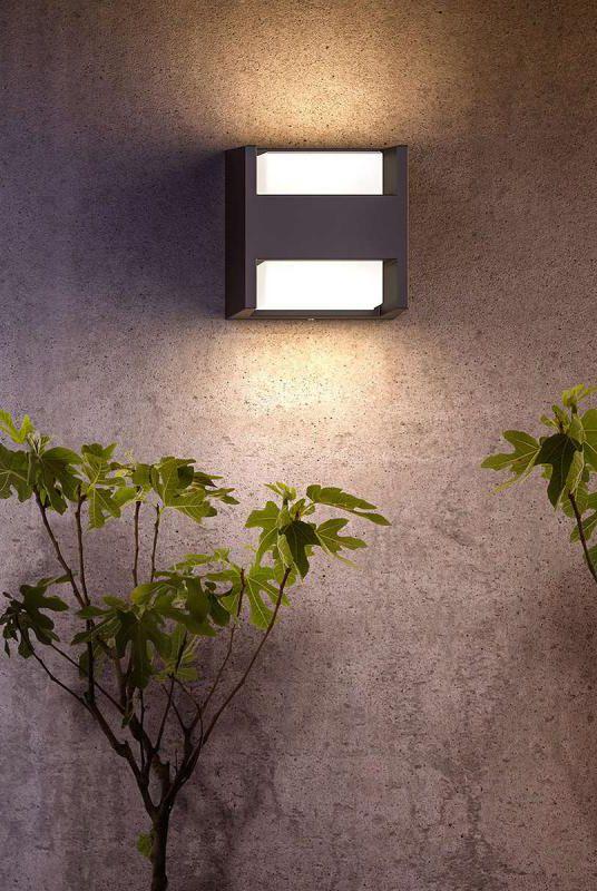 LED Außen Bereich Wand Beleuchtung Balkon Terrassen Strahler Garten ALU Lampe