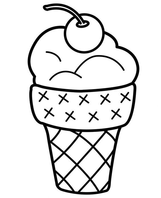 Malowanka z lodem z kategorii kolorowanek na lato.  #Lato #Lody #Kolorowanki #Malowanki #DlaDzieci