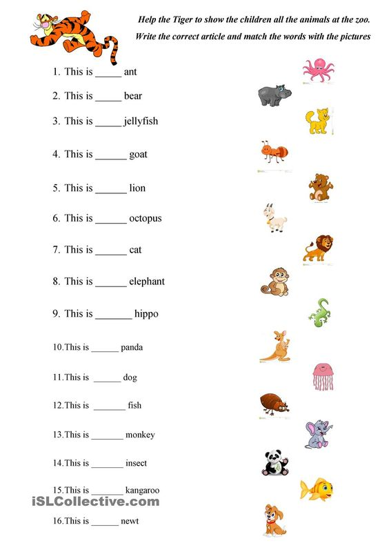 ABC Animals practice | ESL worksheets of the day | Pinterest ...