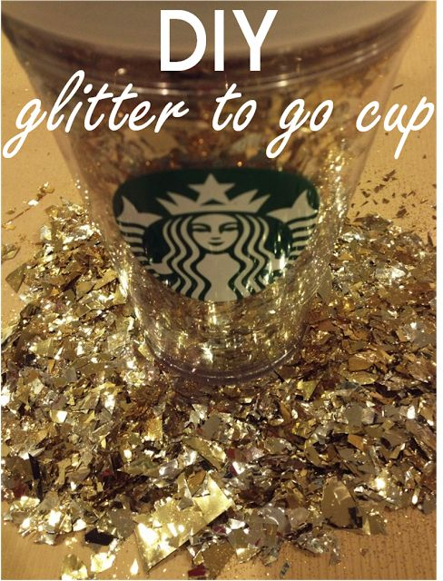 the Brilliant Budgetista: DIY Starbucks Glitter Cup