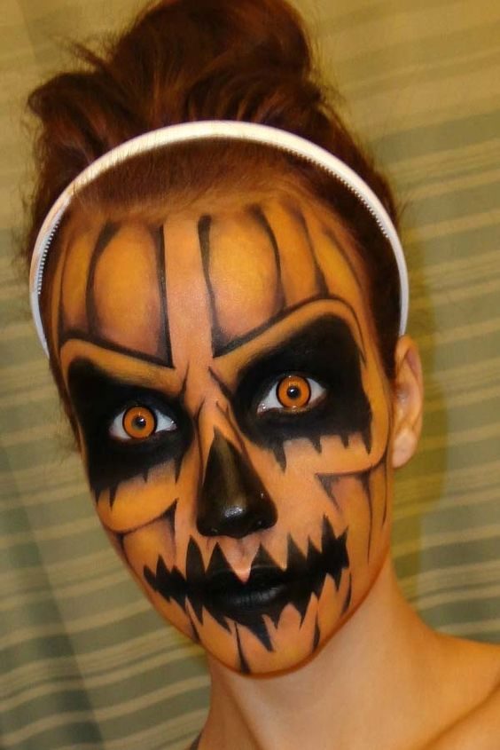 Maquillaje de terror escalofriante and calabazas on pinterest - Calabazas de halloween de miedo ...