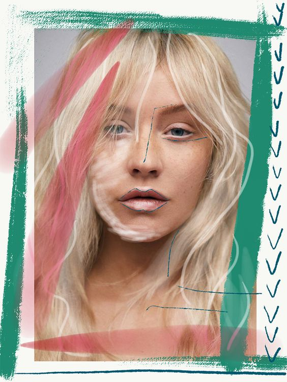• collage by Nor Laura • CHRISTINA AGUILERA for Paper Magazine 2018