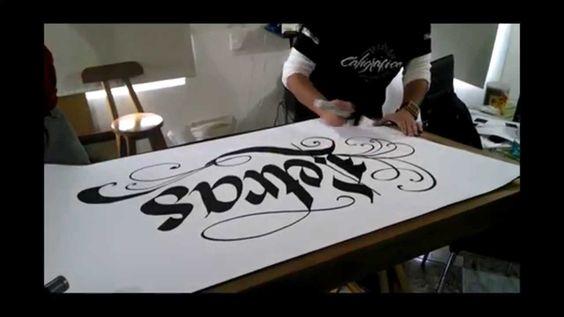 Caligrafia el caligrafo - letras uncial