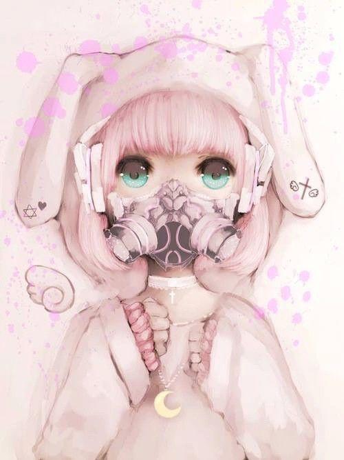 #masqueàgaz #anime #girl #pink #rabbit