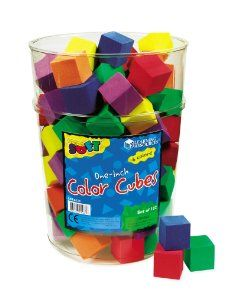 colored cubes, maybe cute for crafting table?