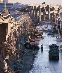 San Francisco Earthquake 1989 ~ So terrifying until all friends & family accounted for. Thank God for the World Series. Traffic way lighter than usual at 5:04pm.  ~Repinned Via Rhonda Hoffman Garcia (akr)