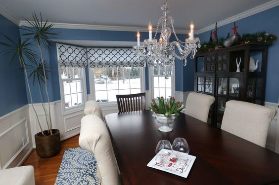 Wall color is Benjamin Moore 805 New York State of Mind.  December Home of the Month: The blue print - The Buffalo News