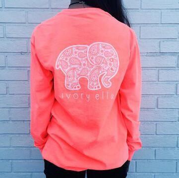 Ivory Ella Women Print Animal Elephant T Shirt Loose Long Sleeve Harajuku Tops, Top - Just Trendy