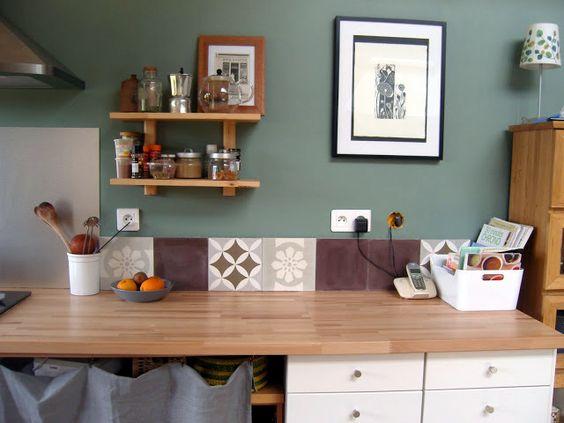 #cuisine #kitchen #carreauxdeciment blog une hirondelle dans le tiroir