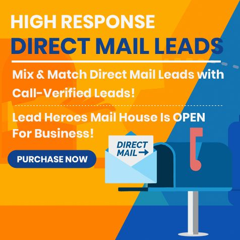 New Direct Mail Leads Mix And Match Direct Mail Leads With Call Verified Leads Insurance Leads Are Management Tips Marketing Budget Lead Management