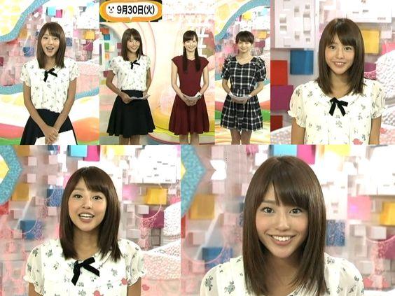 テレビで見せる様々な表情の岡副麻希の美人でかわいい画像
