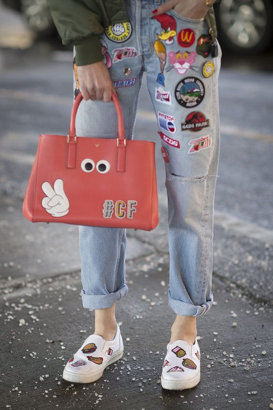 Details In Street Style. Chiara Ferragni's quirky accessories at New York Fashion Week Fall 2015.: