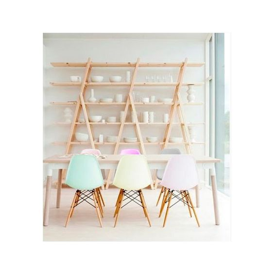 Iconic designs peppermint dsw chair pastel furniture and style - Chaise dsw charles eames ...