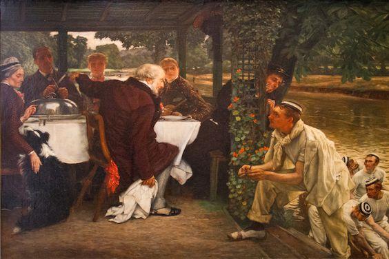 James Tissot, Suite de l'enfant prodigue : le veau gras, vers 1880, Musée des Beaux-Arts de Nantes