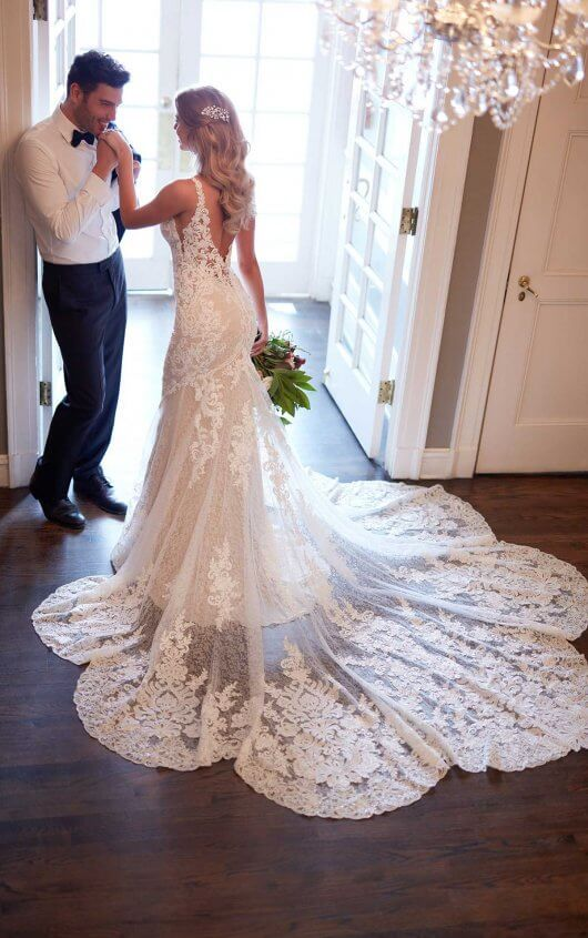 Fitted Lace Wedding Dress With Scalloped Train Martina Liana Wedding Dress Train Fitted Lace Wedding Dress Wedding Dress Quiz