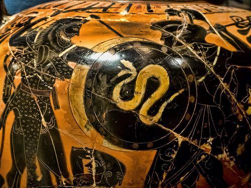 Closeup Of Neck Amphora With Black Figure Scene Of Herakles Fighting Geryon Attic Greek 550 530 Bce Terracotta Black Figure Scene Art