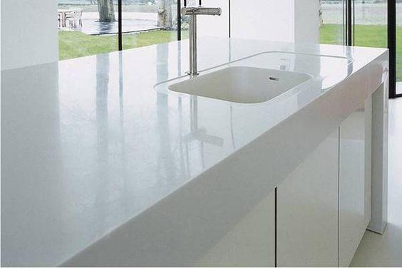2 bowl Corian kitchen sink IMAGE Kitchen remodel ideas Pinterest - plan d une maison simple