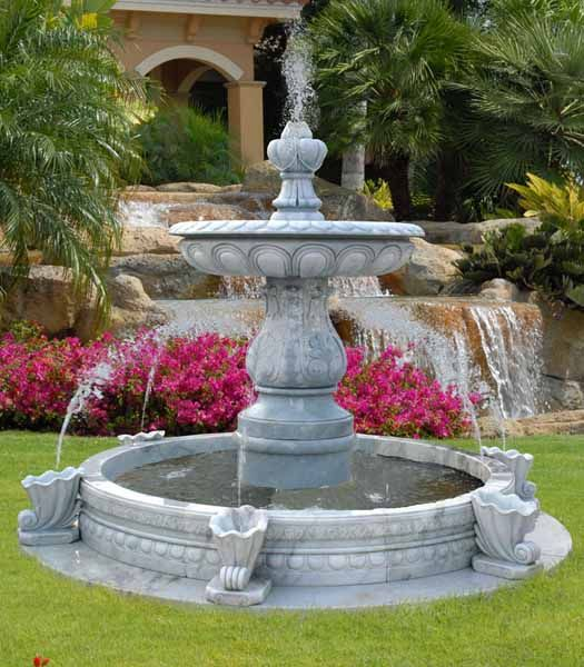 Water fountains front yard and backyard designs gardens for Water garden ideas designs