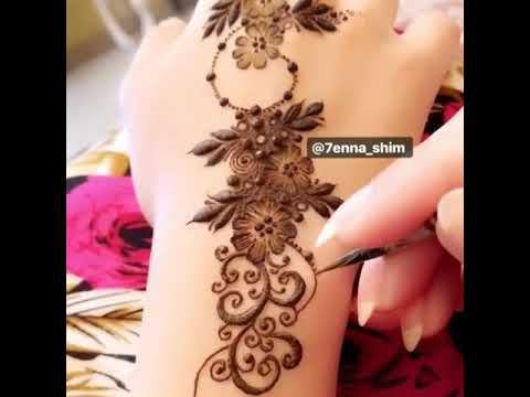 نقش حناء خفيف Youtube Mehndi Designs Mehndi Designs For Girls Henna Designs