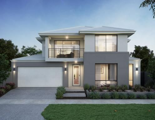 Single And Double Storey Home Designs Webb Brown Neaves House Front Design Dream House Exterior Modern House Exterior