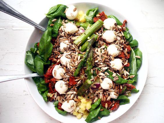 Grillen Rotkäppchen Fruchtsecco Sommer Food Rezept Sekt Viagrette Sommer Salat Spargel Food Foodie