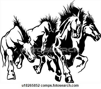 stampede of horses coloring pages - photo#47