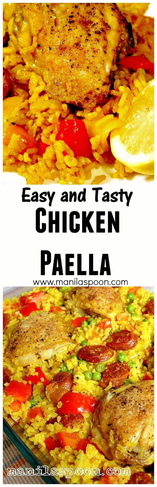 Everyone I have made this for always love this! An easy and simple Chicken Paella that's a delight to the eye and a joy to the palate.