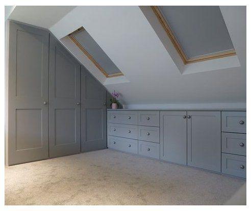 Afbeeldingsresultaat Voor Built In Dresser In Knee Wall With Images Attic Bedroom Small