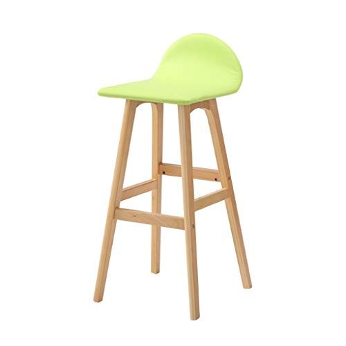 Barstools Solid Wood High Stool Simple Style Kitchen Restaurant